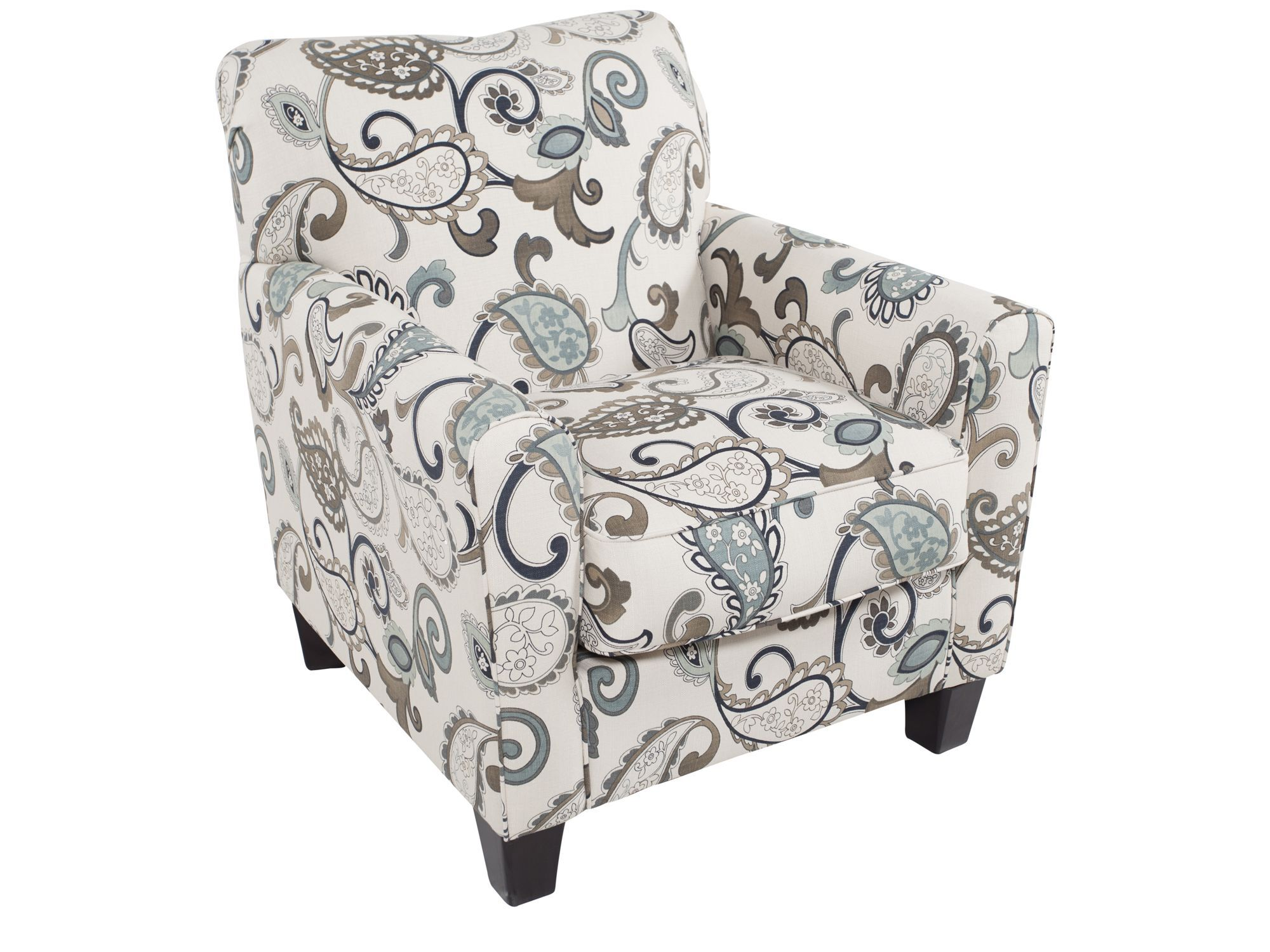 Superb Paisley Patterned Contemporary 35u0026quot; Accent Chair ...