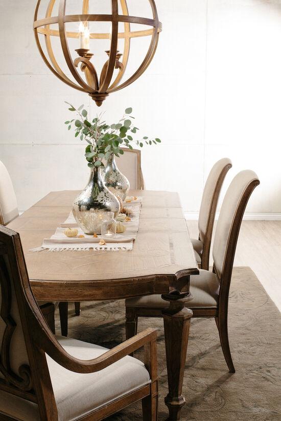 Two-Piece Spade Legs 44'' Side Chair Set in Beige