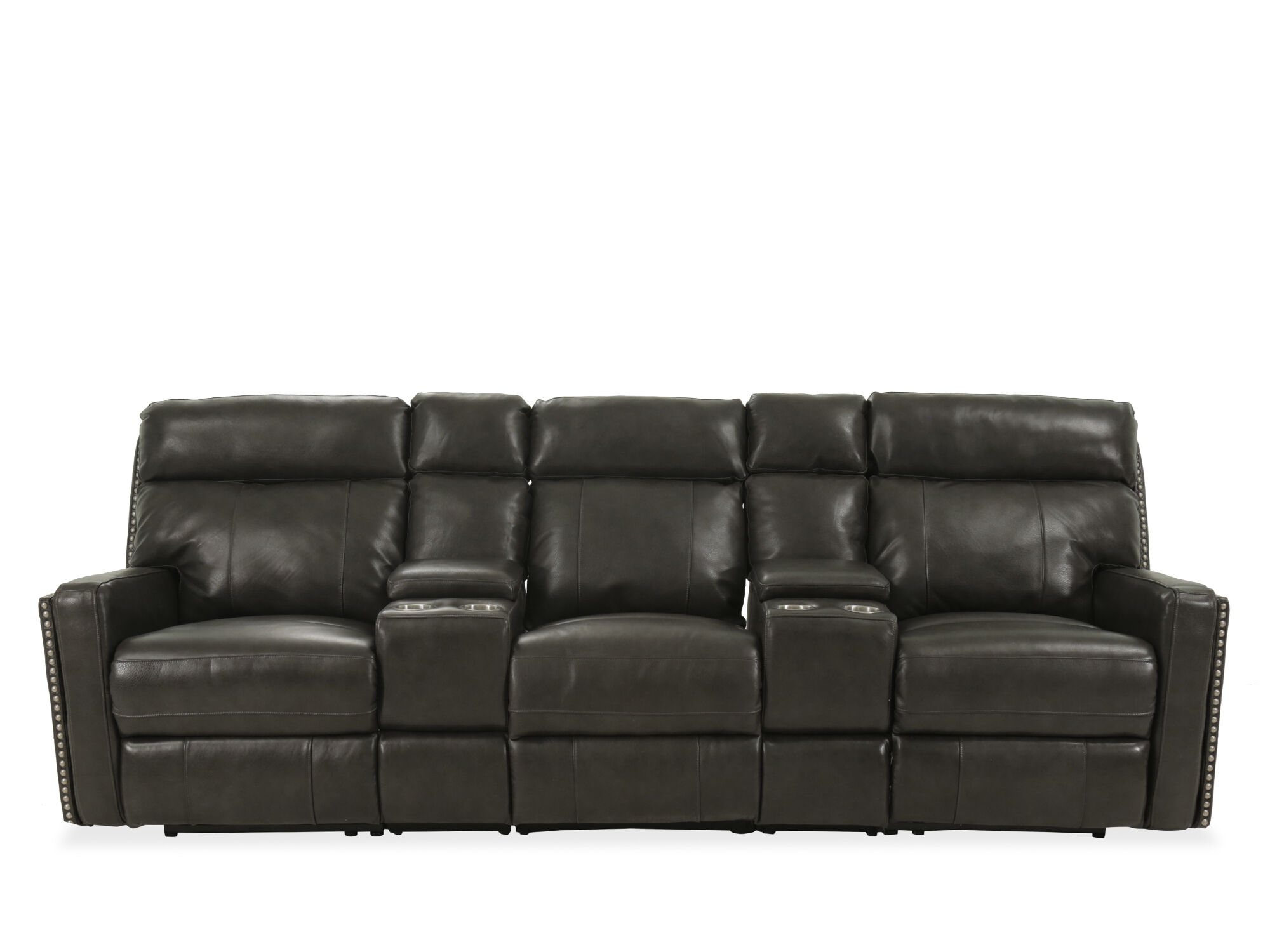 Power Reclining Sofa In Brown