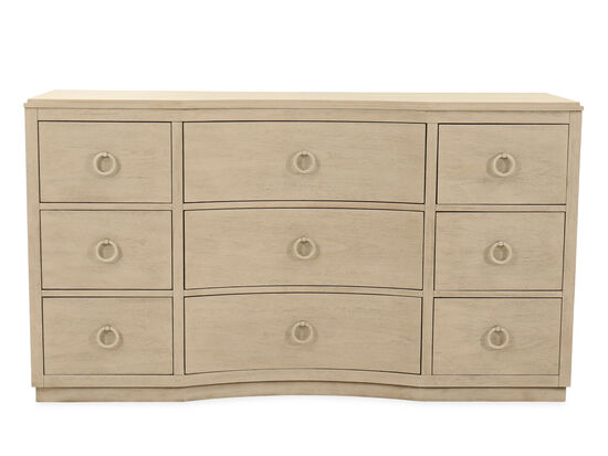 "37"" Casual Nine-Drawer Dresser in Brown"