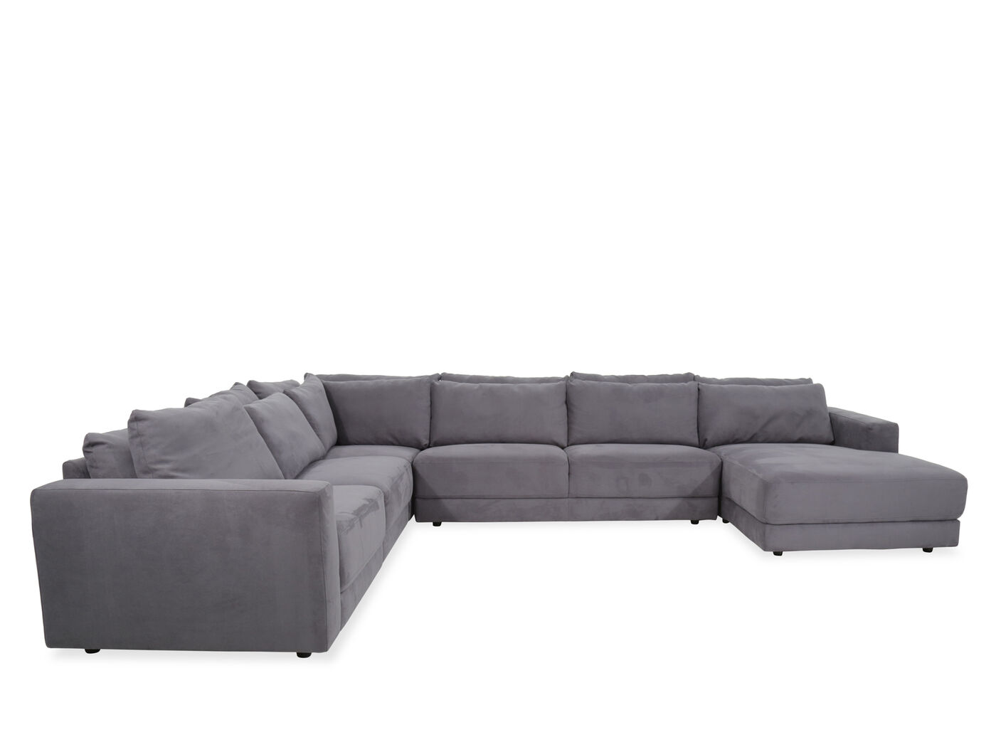 Five Piece Contemporary Sectional In Regata Gray Mathis Brothers  ~ Five Piece Sectional Sofa