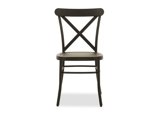 "35"" Casual Side Chair in Antique Black"