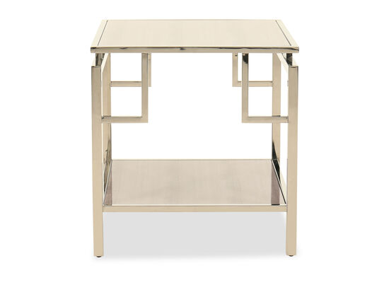 Stainless Steel End Table in Gold