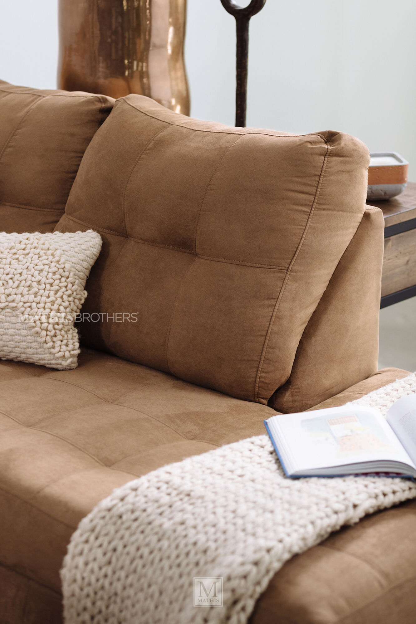 Transitional Two Piece Sectional In Latte Mathis