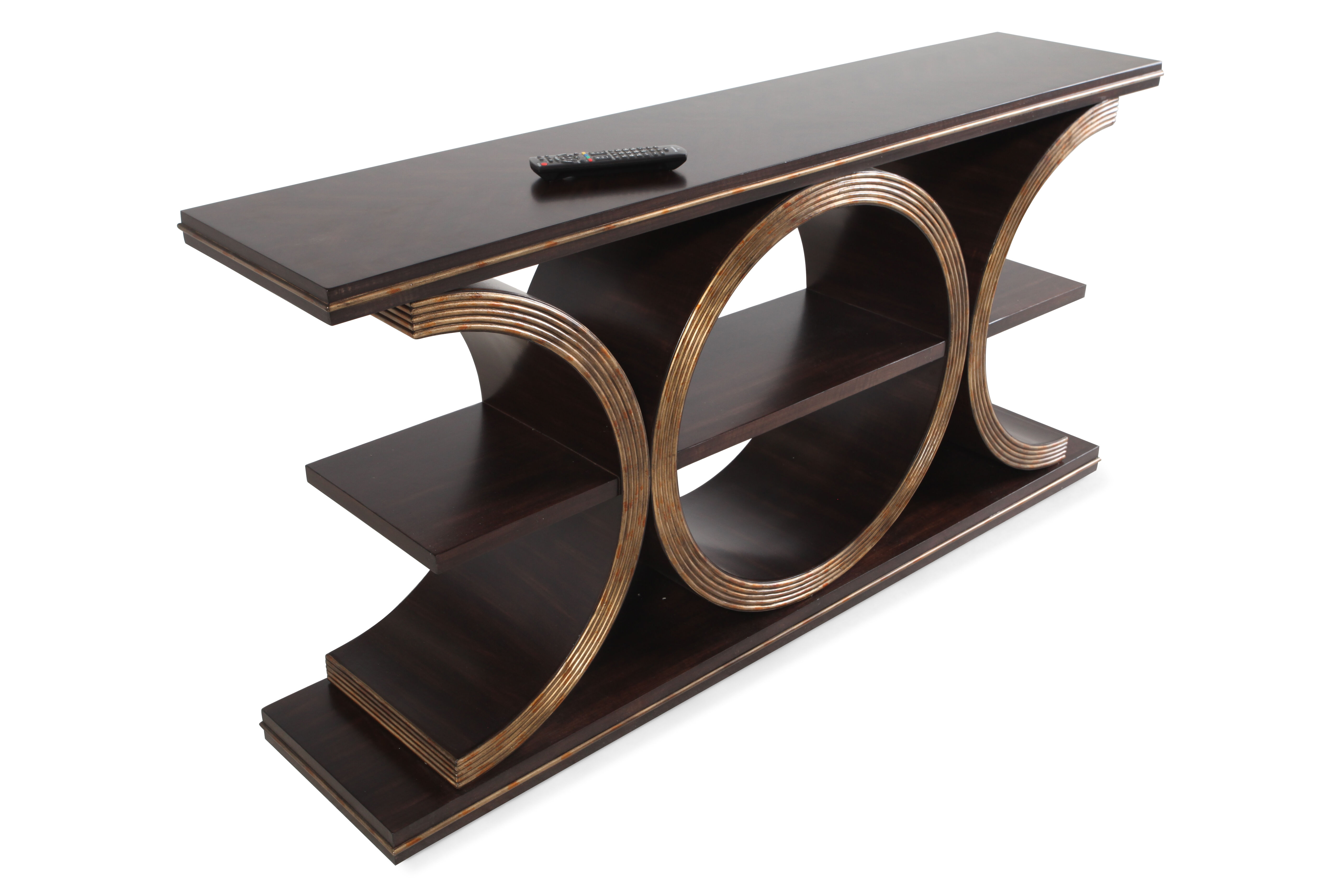 Geometric Body Transitional Console Table ...