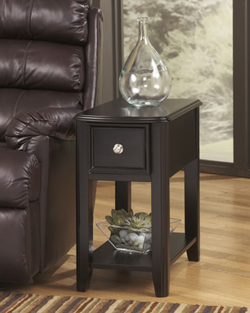 contemporary rectangular end table in black mathis 62088