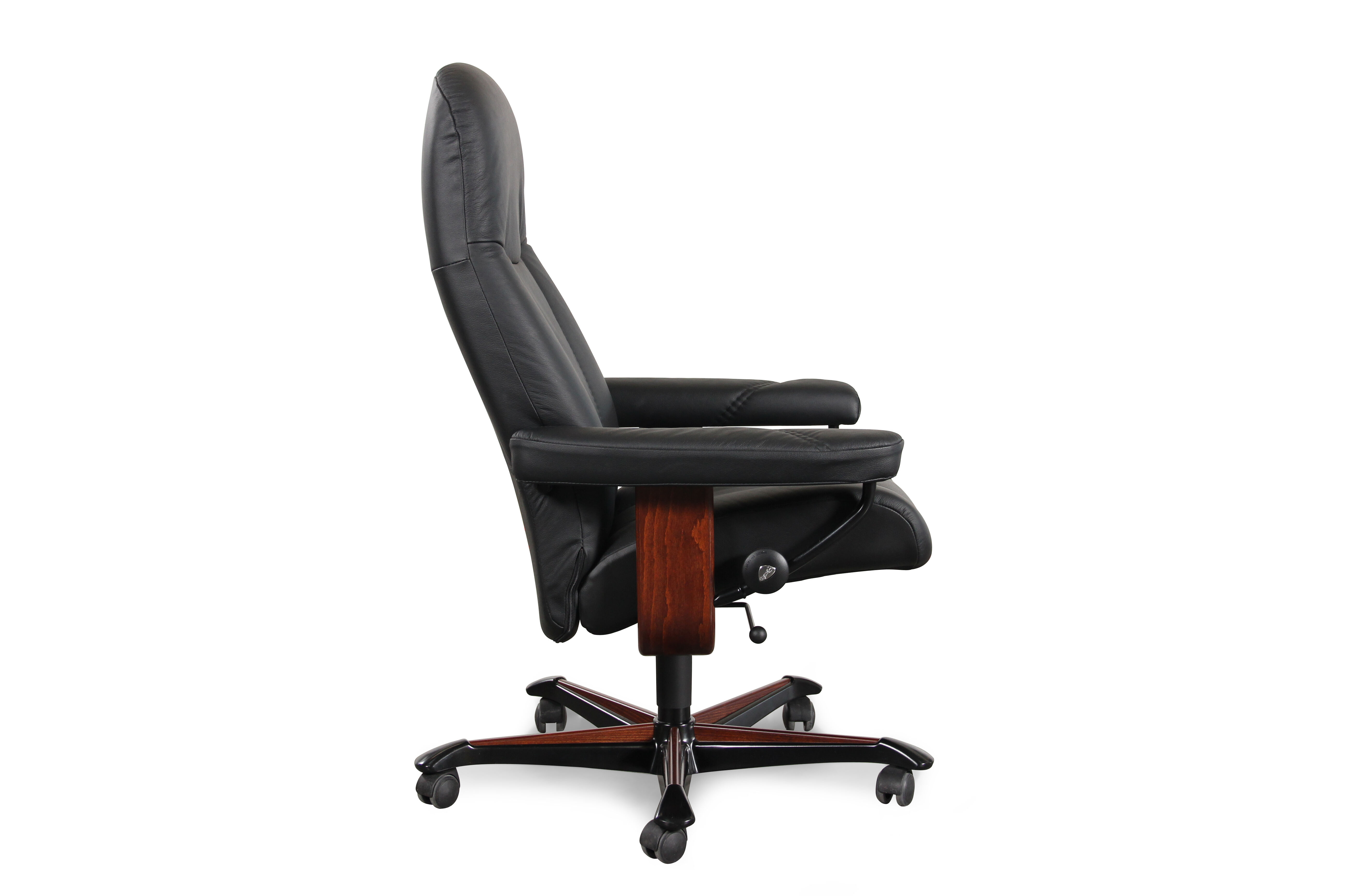 Stressless Consul ...  sc 1 st  Mathis Brothers & Stressless Consul Medium Batick Black Office Chair | Mathis ... islam-shia.org
