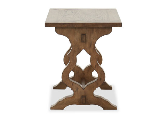 Traditional Rectangular End Table in Winter Wheat