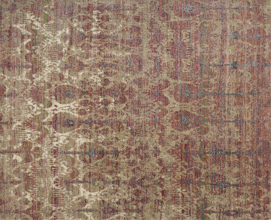 "Loloi Power Loomed 5'3"" x 7'4"" Rug in Drizzle/Berry"