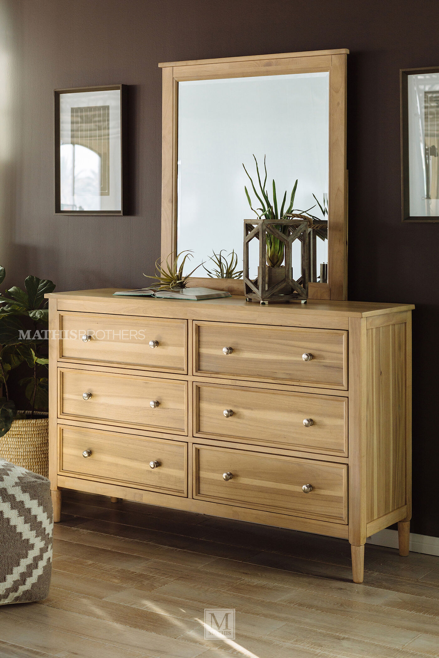 light ash bedroom furniture six drawer contemporary youth dresser in light brown 15802