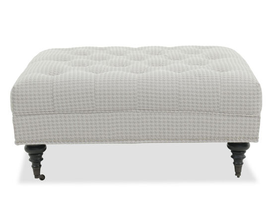 Tufted Contemporary Ottoman in Gray