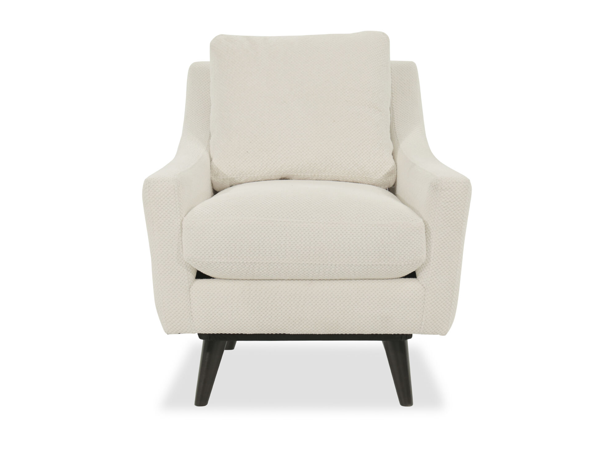 Mid Century Modern 31 Swivel Chair In White Mathis Brothers Furniture