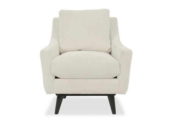 "Mid-Century Modern 31"" Swivel Chair in White"