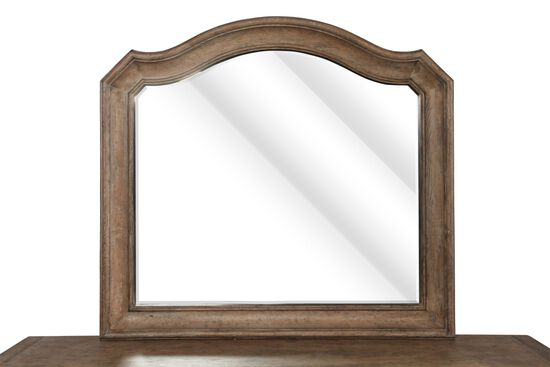 """42"""" Traditional Arched Mirror in Brown"""