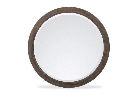 "44"" Traditional Round Mirror in Brown"