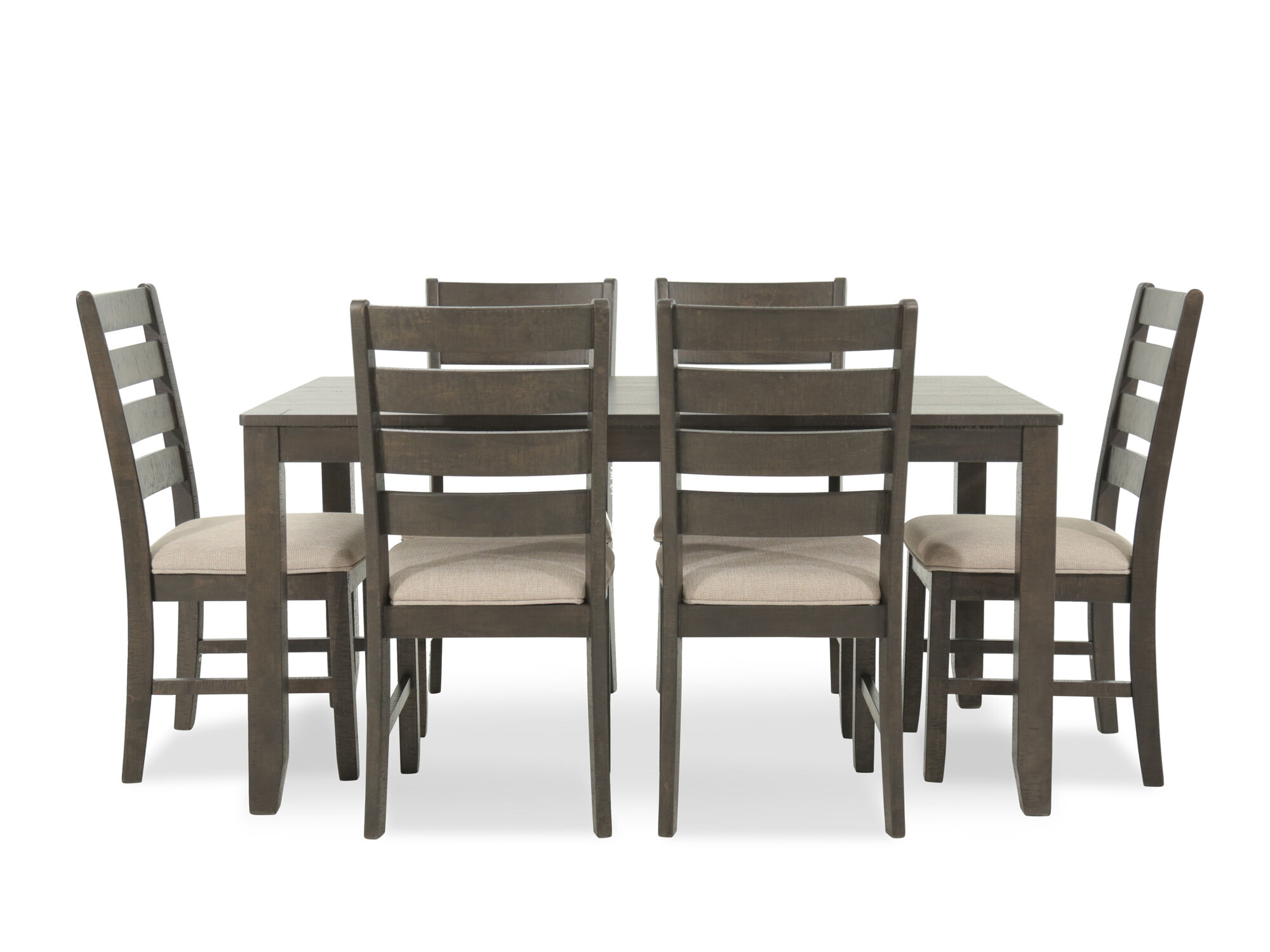 Navy And Gold Dining Room, Seven Piece Contemporary 60 Dining Set In Brown Mathis Brothers Furniture
