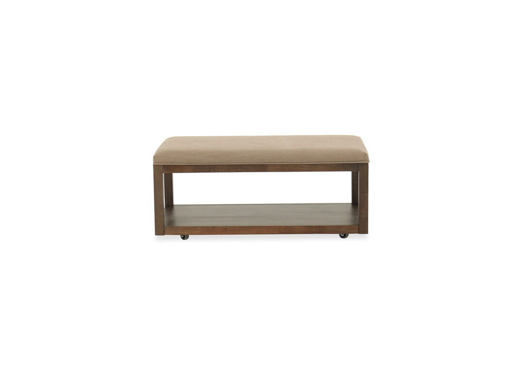 Contemporary Youth Bedroom Bench in Brown | Mathis Brothers ...