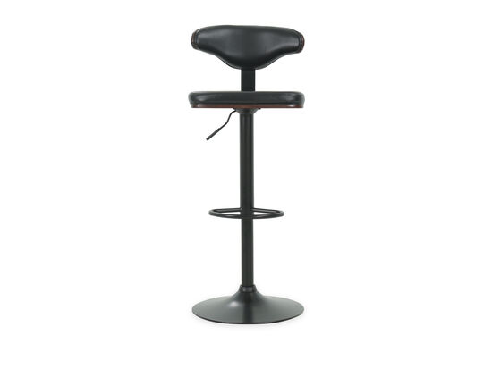 "Contemporary 46"" Adjustable Swivel Bar Stool in Black"
