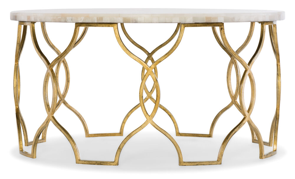 Melange Corrina Cocktail Table in Gold