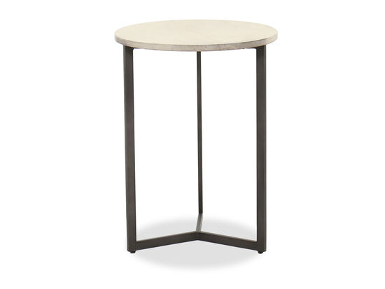 Transitional Round Accent Table in Charcoal