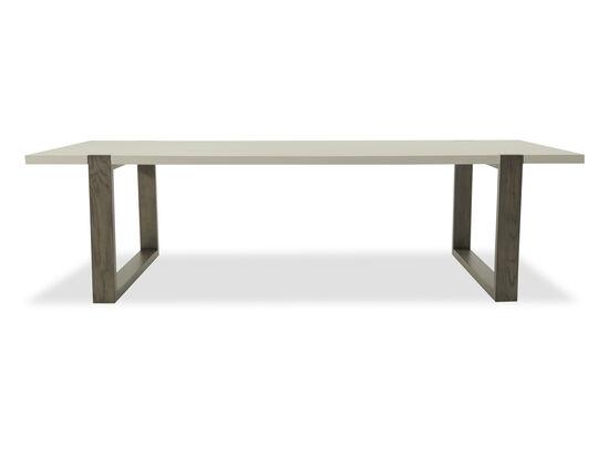 "Contemporary 44"" Rectangular Base Table in Dark Gray"
