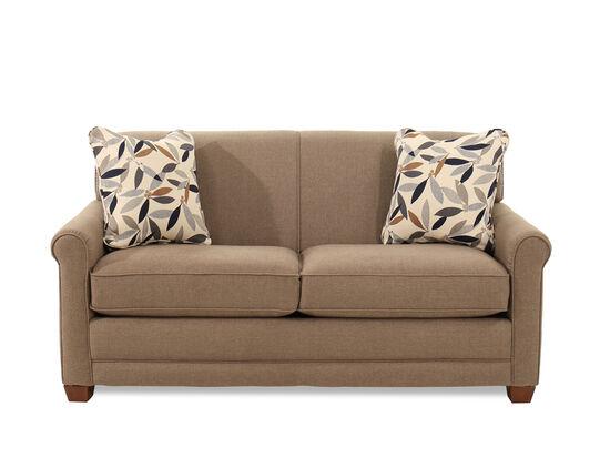 "Traditional 71"" Full Sleeper Sofa in Brown"