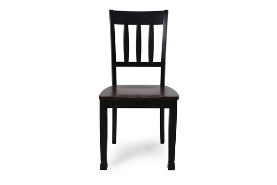 Slat Back 40.5'' Side Chair in Black