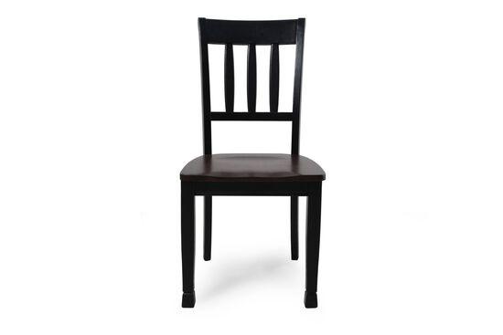 Slat Back 40.5'' Side Chair in Black
