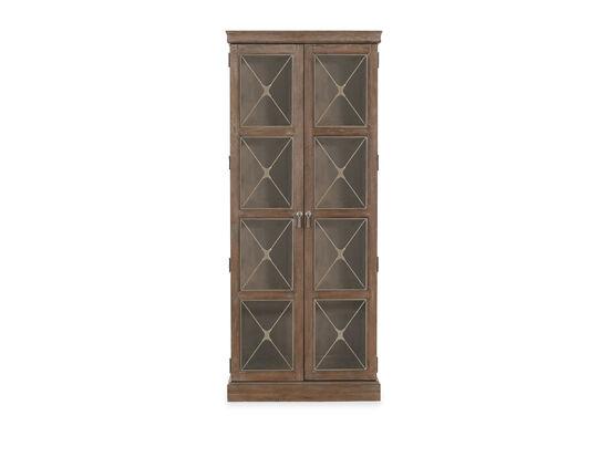 Casual Two-Door Curio in Brown