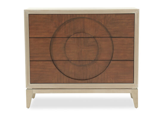 35'' Three-Drawer Casual Accent Chest in Cream