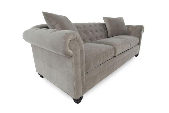 "Contemporary Button-Tufted 92"" Sofa in Gray"