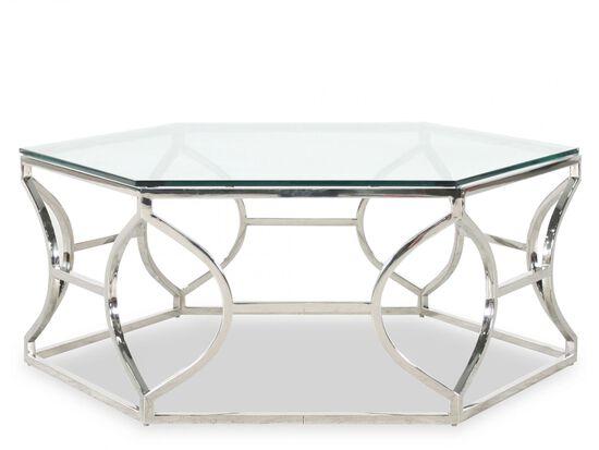 Hexagon Glam Cocktail Tablein Stainless Steel