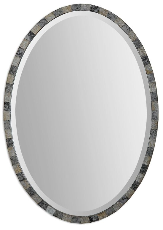 29'' Mosaic Frame Oval Accent Mirror