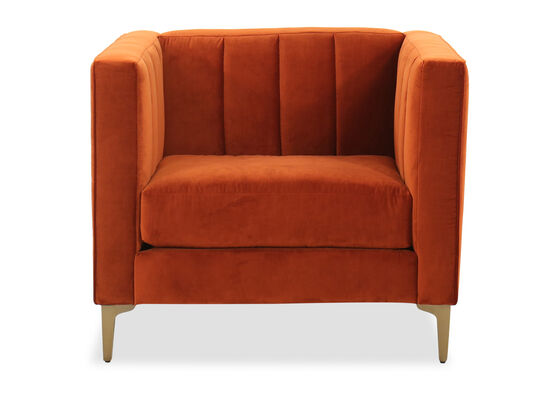 Channeled Arm chair in Orange Crush