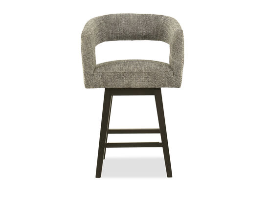Modern Cutout Back Barstool in Gray