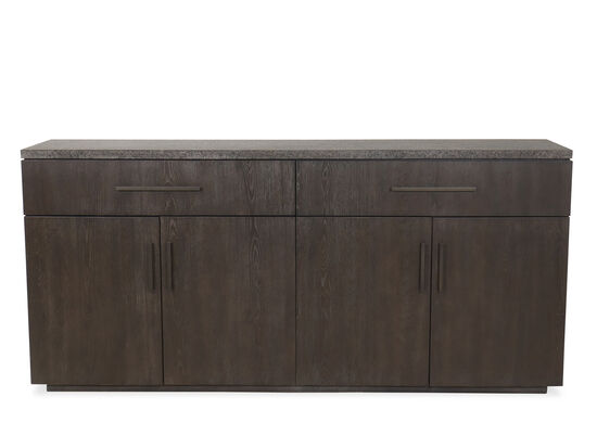 """Transitional 78"""" Buffet in Smoky Arabica"""