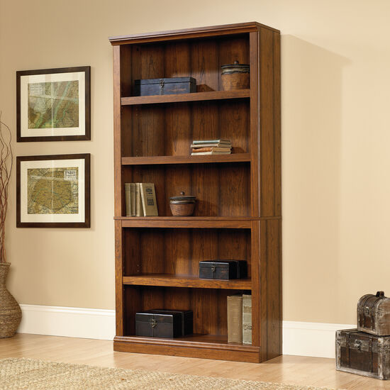 Traditional Adjustable Shelf Open Bookcase in Washington Cherry
