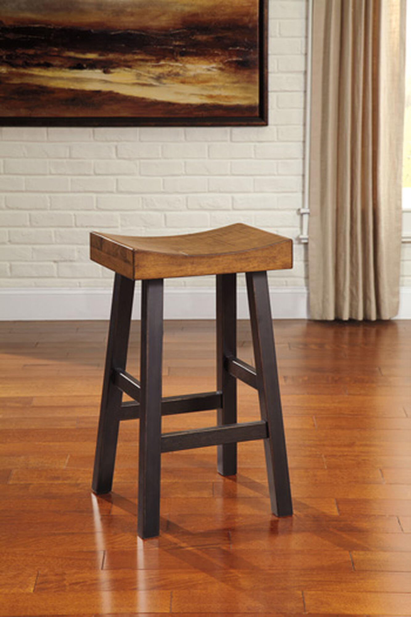 Casual 31 Quot Saddle Seat Bar Stool In Dark Brown Mathis