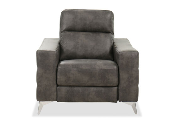 "Contemporary 40"" Power Recliner in Gray"