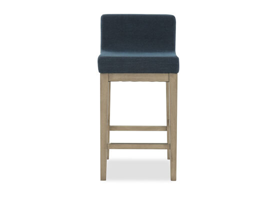 "Armless 33"" Bar Stool in Blue"