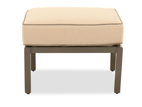 Rectangular Traditional Ottoman in Beige