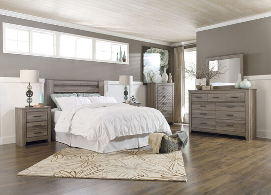 Four-Piece Casual Bedroom Set in Chestnut