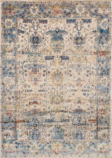 "Transitional 2'-7""x4' Rug in Sand/Lt. Blue"