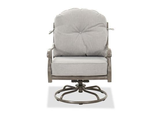 High-Back Swivel Rocker Club Chair in Gray