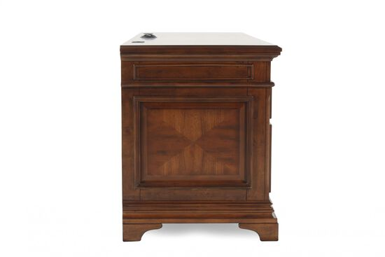 """75"""" Traditional Seven-Drawer Credenza in Cherry"""