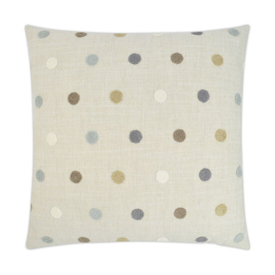 Puff Dotty Pillow in Oatmeal