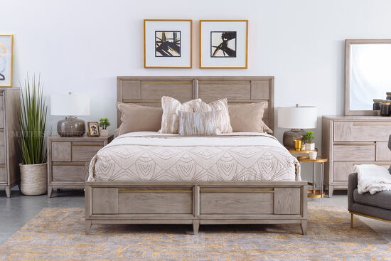 """58"""" Transitional King Storage Bed in Gray"""