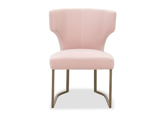 Contemporary Dining Side Chair in Blush