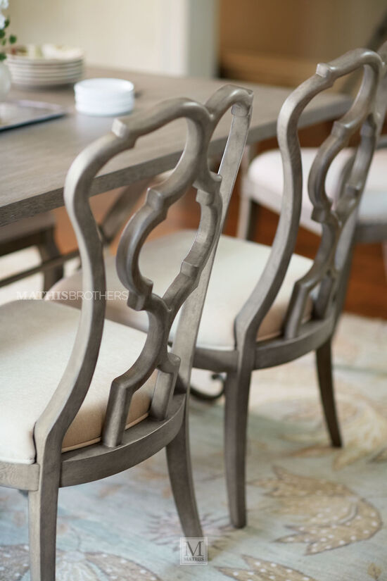 Scroll Back 40'' Side Chair in Cream