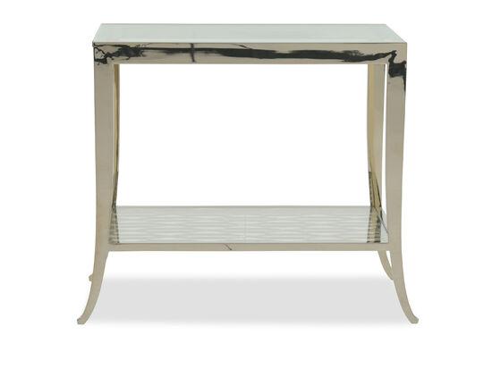 Saber-Leg Modern End Tablein Whisper of Gold